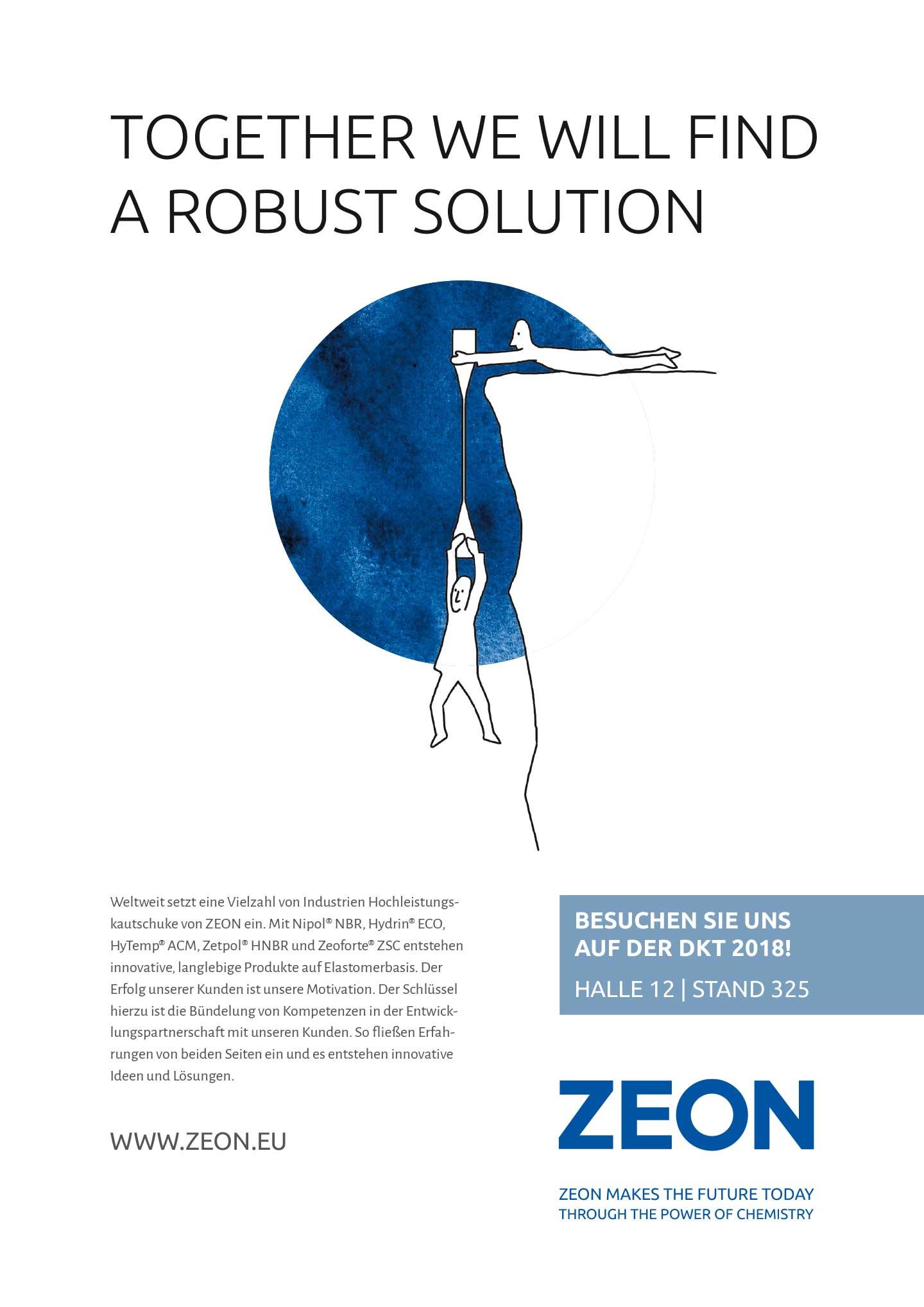Projekt crossmediale Imagekampagne für Zeon Europe GmbH - Drei K